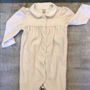 Ralph Lauren Light Pink/White 6 month Onesie